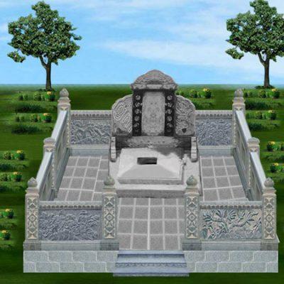 Kích thước mẫu xây mộ đá đẹp theo phong thủy