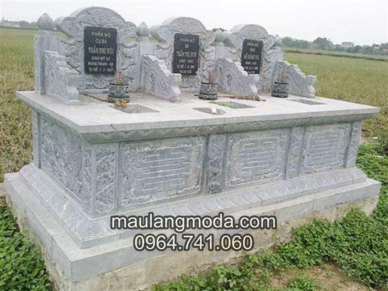 mẫu mộ đá hiện đại 05, mộ đá đẹp, mẫu lăng mộ đá hiện đại