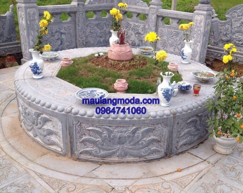 Làm các mẫu mộ đá tròn đẹp