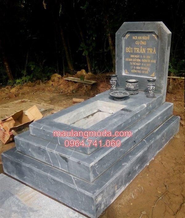 làm mẫu mộ tam cấp đẹp bằng đá xanh