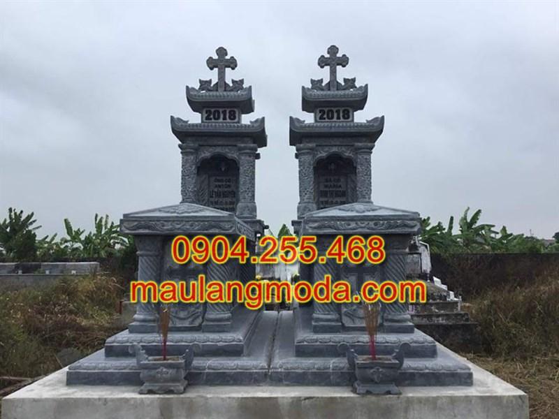 Mộ đôi công giáo, Mộ đá công giáo, Mẫu mộ công giáo đẹp,