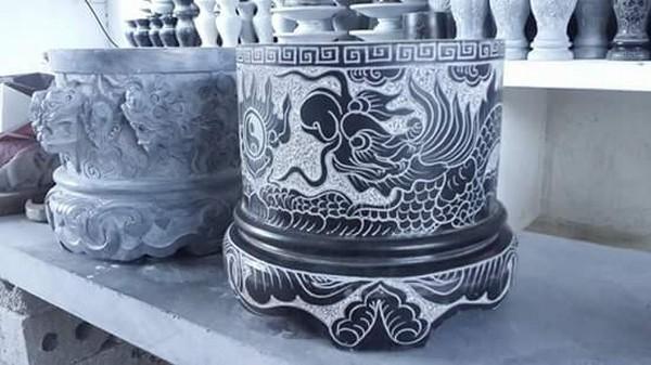 Bát hương đá xanh đẹp nhất chất lượng tốt giá rẻ thiết kế cao cấp