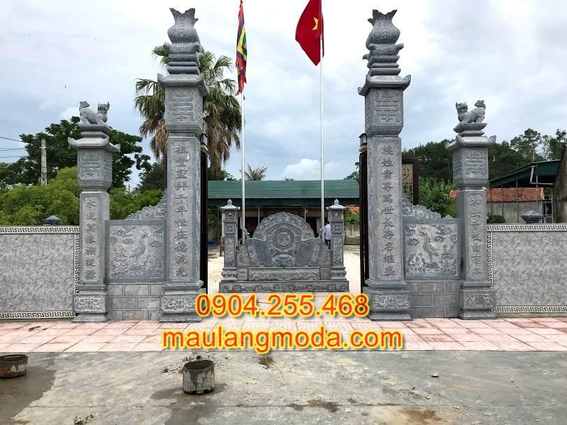 Cổng tam quan kiểu tứ trụ, cổng đá đẹp,mẫu cổng đền đẹp,cổng đá tam quan