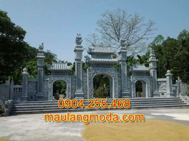 Giá cổng tam quan đẹp bằng đá xanh nguyên khối, Mẫu cổng tam quan đẹp, cổng tam quan đình chùa nhà thờ đẹp