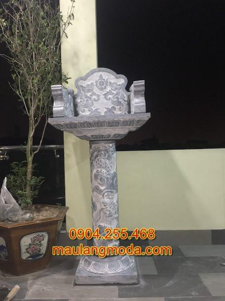 Mẫu cây hương ngoài trời bằng đá đẹp nhất 2019-11,mẫu bàn thờ ông thiên, cột thiên đài