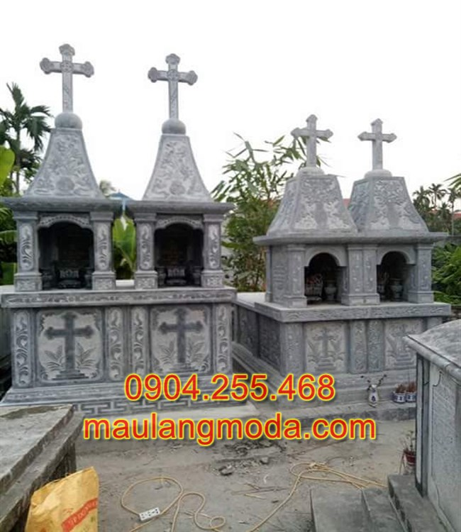 Mẫu đôi mộ công giáo đá đẹp, Mẫu mộ công giáo đẹp, mô công giáo, các kiểu mộ công giáo, Mộ đạo thiên chúa,