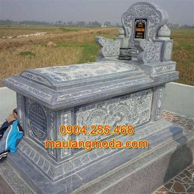Mẫu mộ đá đơn đẹp, mộ đá đẹp, mộ đá không mái, mẫu mộ đẹp, thành phần của khu lăng mộ đá