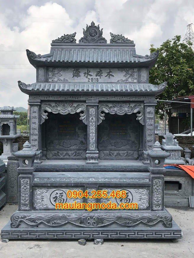 Xây mộ đôi phong thủy,kích thước mộ đôi chuẩn phong thủy, Mẫu mộ đôi đẹp