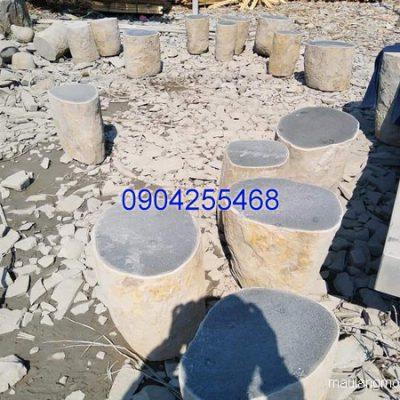 Bàn ghế đá xanh đẹp chất lượng tốt giá rẻ thiết kế đơn giản