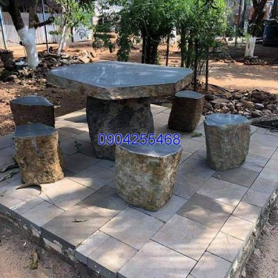 Bàn ghế đá xanh đẹp chất lượng tốt giá tốt thiết kế hiện đại