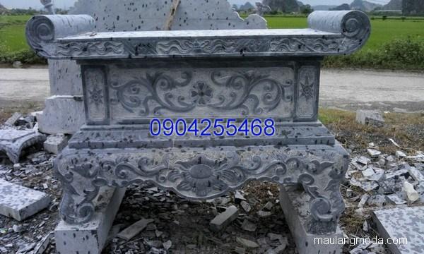 Bàn lễ đá khối đẹp chất lượng tốt giá rẻ thiết kế đơn giản