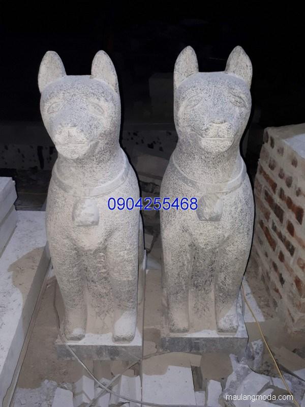 Tượng chó đá linh vật phong thủy đẹp chất lượng cao giá rẻ