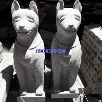 Tượng chó đá linh vật phong thủy đẹp chất lượng cao giá tốt