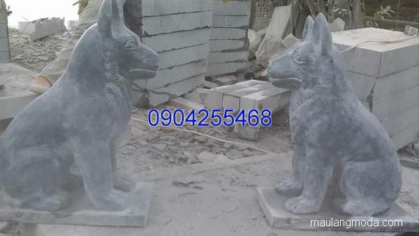 Tượng chó đá linh vật phong thủy đẹp chất lượng tốt giá rẻ