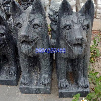 Tượng chó đá linh vật phong thủy đẹp nhất chất lượng cao giá tốt