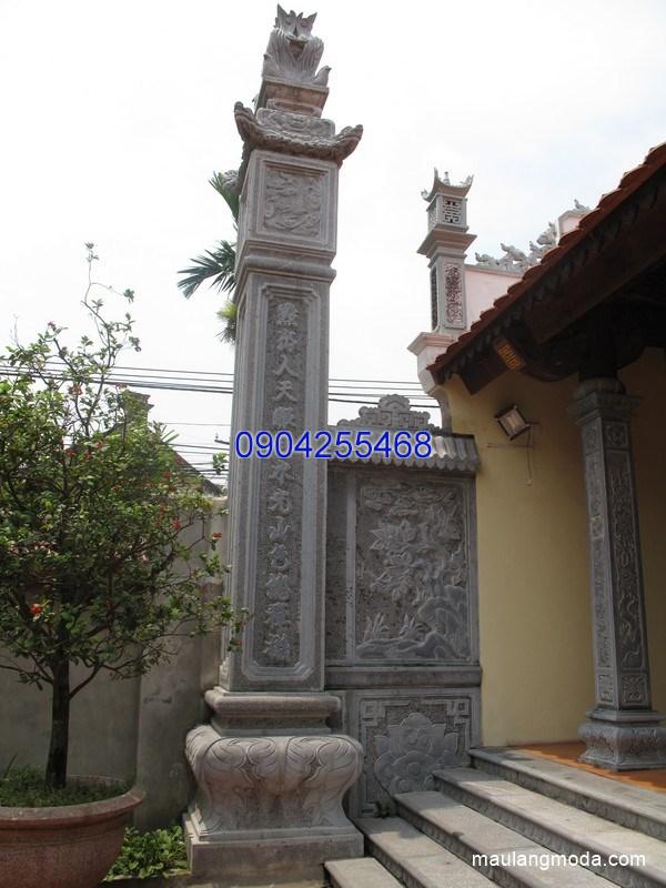Cột bằng đá tự nhiên chạm khắc tinh xảo chất lượng cao giá hợp lý
