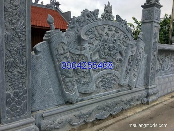 Bức bình phong cuốn thư đá chạm khắc đẹp chất lượng cao giá rẻ