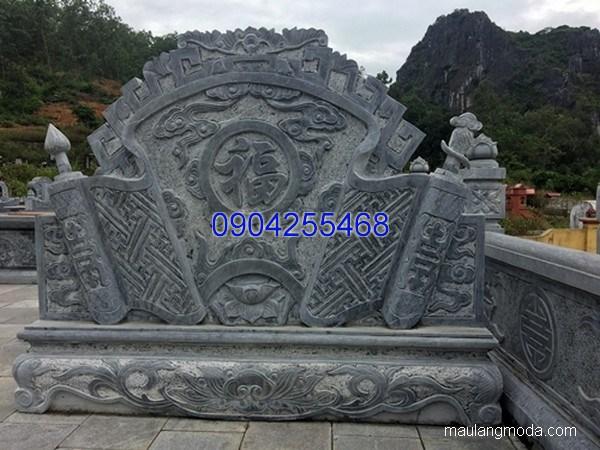 Bức bình phong cuốn thư đá chạm khắc tinh xảo chất lượng cao giá tốt