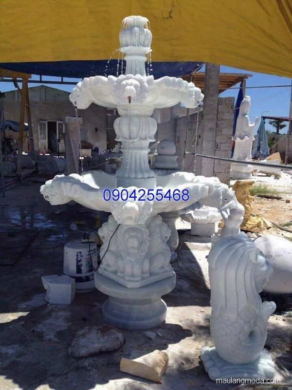 Đài phun nước đá xanh đẹp chất lượng cao giá rẻ thiết kế cao cấp