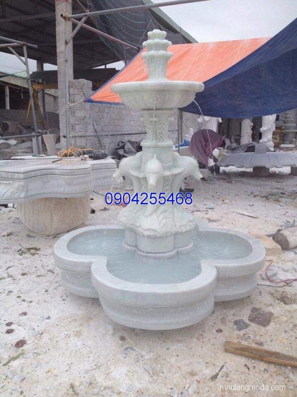 Đài phun nước đá xanh đẹp chất lượng cao giá rẻ thiết kế đơn giản