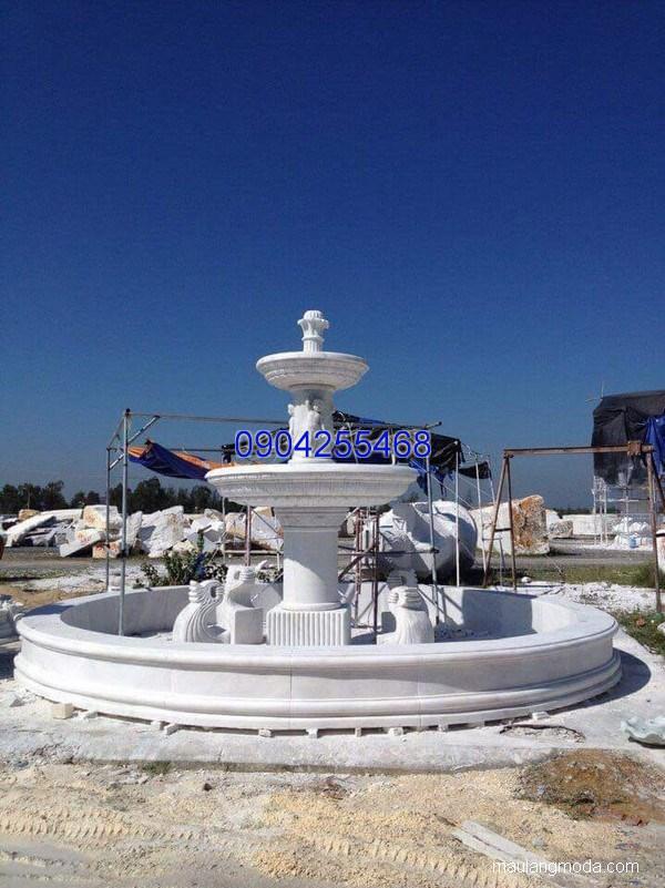 Đài phun nước đá xanh đẹp chất lượng cao giá tốt thiết kế hiện đại