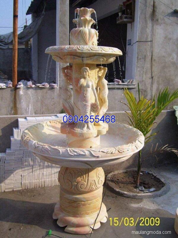 Đài phun nước đá xanh đẹp chất lượng cao giá tốt thiết kế cao cấp