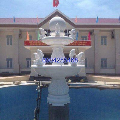 Đài phun nước đá xanh đẹp chất lượng cao giá tốt thiết kế đơn giản