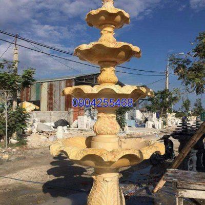 Đài phun nước đá xanh đẹp chất lượng cao giá hợp lý thiết kế hiện đại