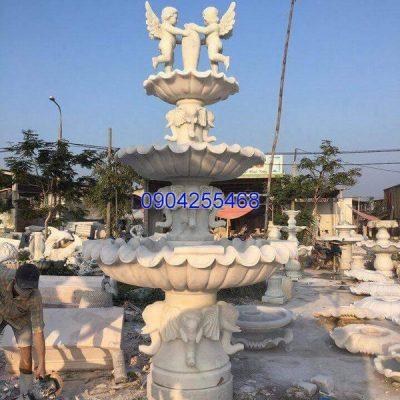 Đài phun nước đá xanh đẹp chất lượng cao giá hợp lý thiết kế cao cấp