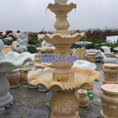 Đài phun nước đá xanh đẹp chất lượng cao giá hợp lý thiết kế đơn giản