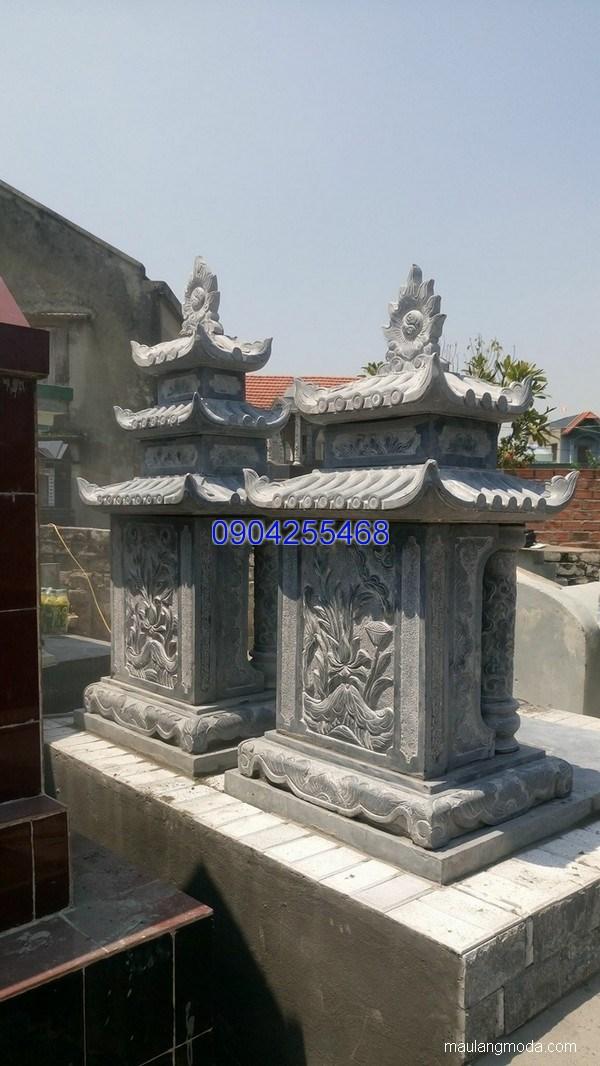Lăng mộ đá xanh đẹp nhất giá hợp lý thiết kế đơn giản