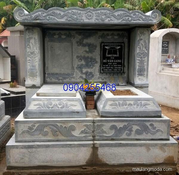 Lăng mộ đá xanh đẹp nhất chất lượng tốt giá rẻ thiết kế hiện đại