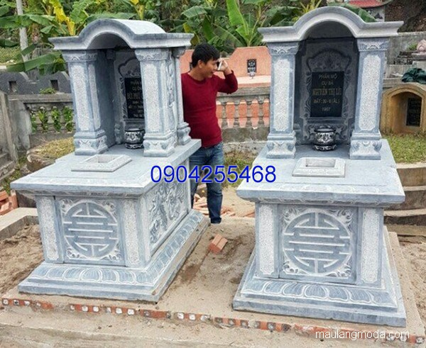 Lăng mộ đá xanh đẹp nhất chất lượng tốt giá rẻ thiết kế đơn giản
