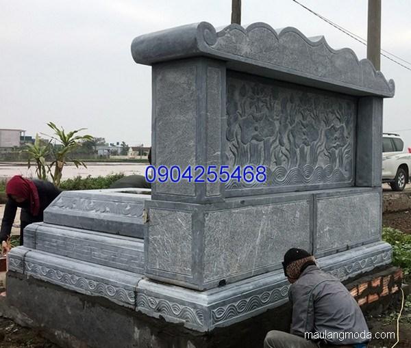 Lăng mộ đá xanh đẹp nhất chất lượng tốt thiết kế hiện đại