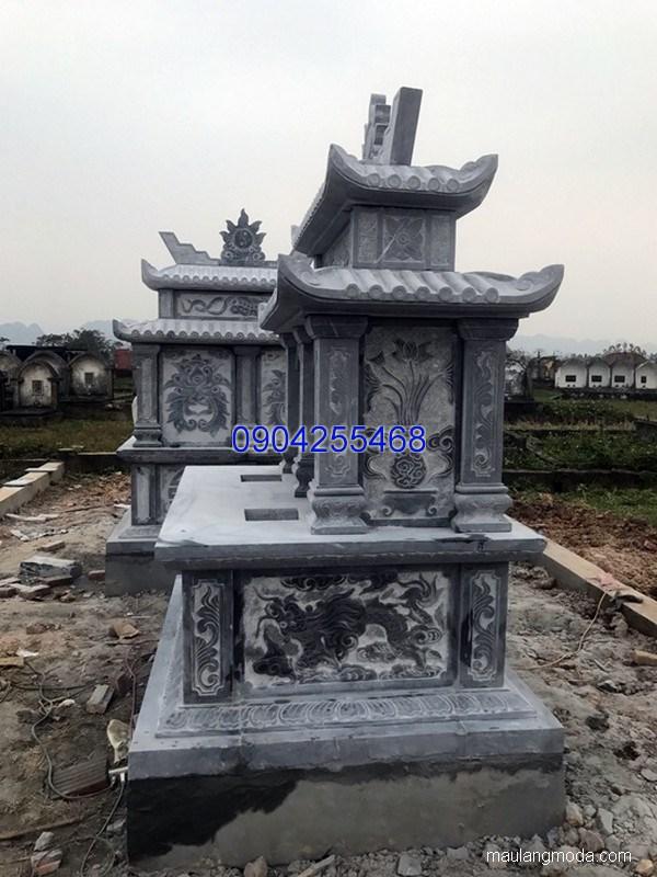 Lăng mộ đá xanh khối đẹp chất lượng cao giá rẻ thiết kế hiện đại