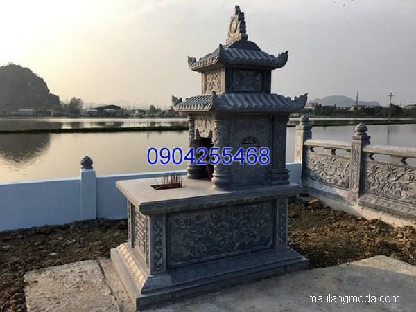 Lăng mộ đá xanh khối đẹp chất lượng cao giá rẻ thiết kế cao cấp