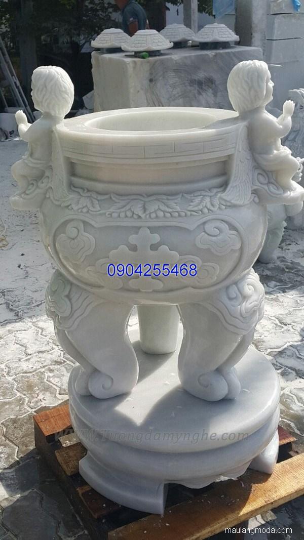 Lư hương đá chạm khắc tinh tế thiết kế cao cấp giá rẻ