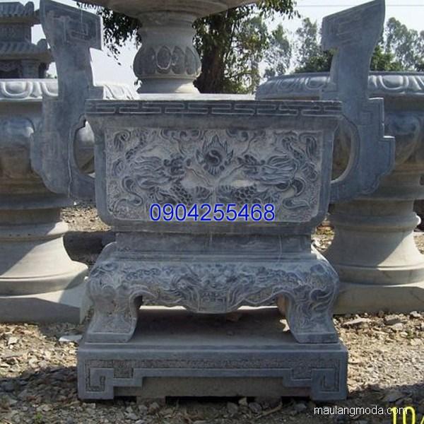 Lư hương đá chạm khắc tinh tế thiết kế cao cấp giá tốt