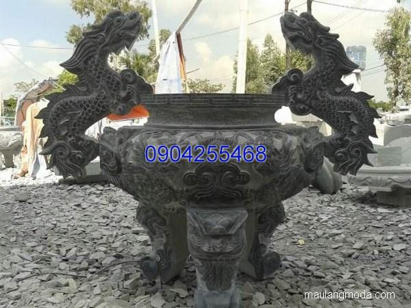 Lư hương đá chạm khắc tinh xảo chất lượng cao giá hợp lý