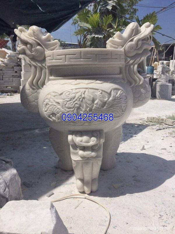 Lư hương đá chạm khắc tinh xảo chất lượng tốt giá tốt