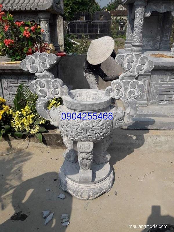 Lư hương đá chạm khắc tinh xảo thiết kế cao cấp giá rẻ