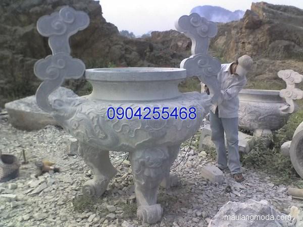 Lư hương đá hoa văn tinh tế chất lượng tốt giá hợp lý
