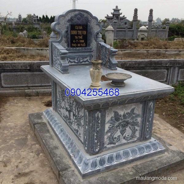 Mẫu mộ đá bành đẹp chạm khắc tinh tế chất lượng cao giá hợp lý