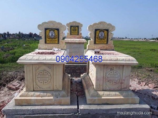 Mẫu mộ đá bành đẹp chạm khắc tinh tế chất lượng tốt giá rẻ