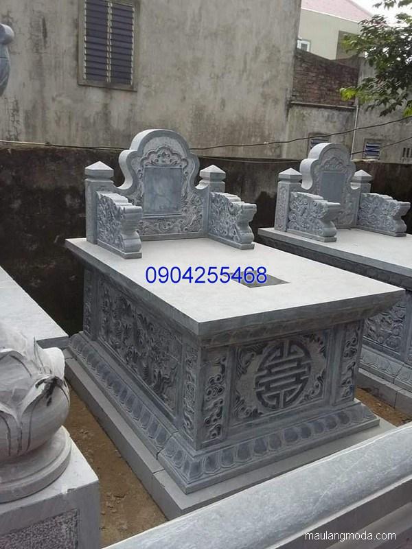 Mẫu mộ đá bành đẹp chạm khắc tinh tế chất lượng tốt giá tốt