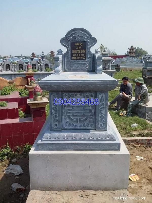 Mẫu mộ đá bành đẹp chạm khắc tinh tế chất lượng tốt giá hợp lý