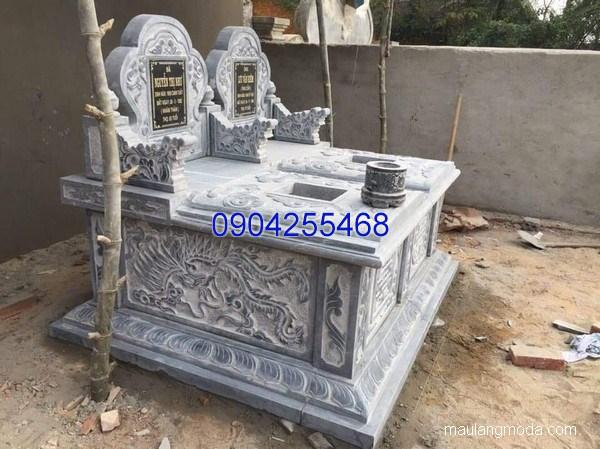 Mẫu mộ đá bành đẹp chạm khắc tinh xảo chất lượng cao giá tốt