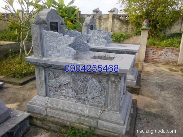 Mẫu mộ đá bành đẹp hoa văn tinh tế chất lượng cao giá hợp lý