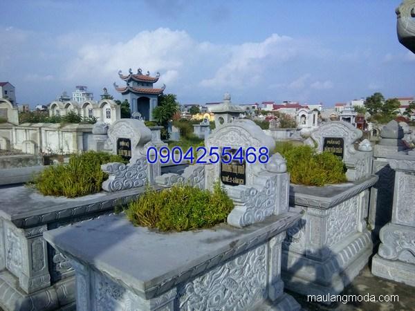 Mẫu mộ đá bành đẹp hoa văn tinh tế chất lượng cao giá tốt