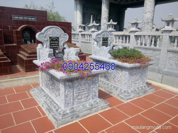 Mẫu mộ đá bành đẹp thiết kế đơn giản chất lượng cao giá tốt